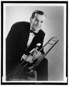 Glenn Miller with his Trombone