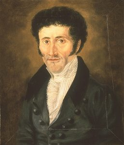 A portrait of E.T.A. Hoffmann by an unknown painter, from before 1822. Displayed under Creative Commons License.