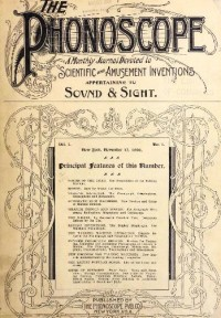 Image of Phonoscope, No. 1 cover, 1896