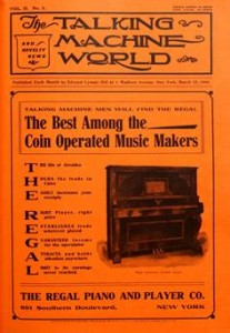Talking Machine World, 1906, cover.