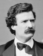 Mark Twain photographed by Mathew Brady, detail.