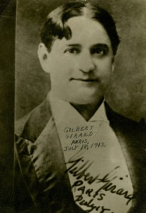 Gilbert Girard, 1913.  Jim Walsh Collection, Recorded Sound, MBRS