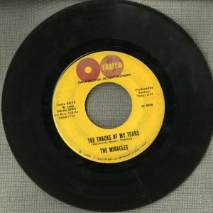 The Tracks of My Tears, 45 rpm disc. Recorded Sound Section, Library of Congress.