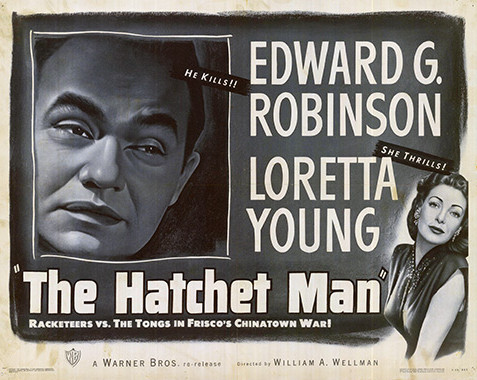 "Lobby card for ""The Hatchet Man"" (First National, 1932)."