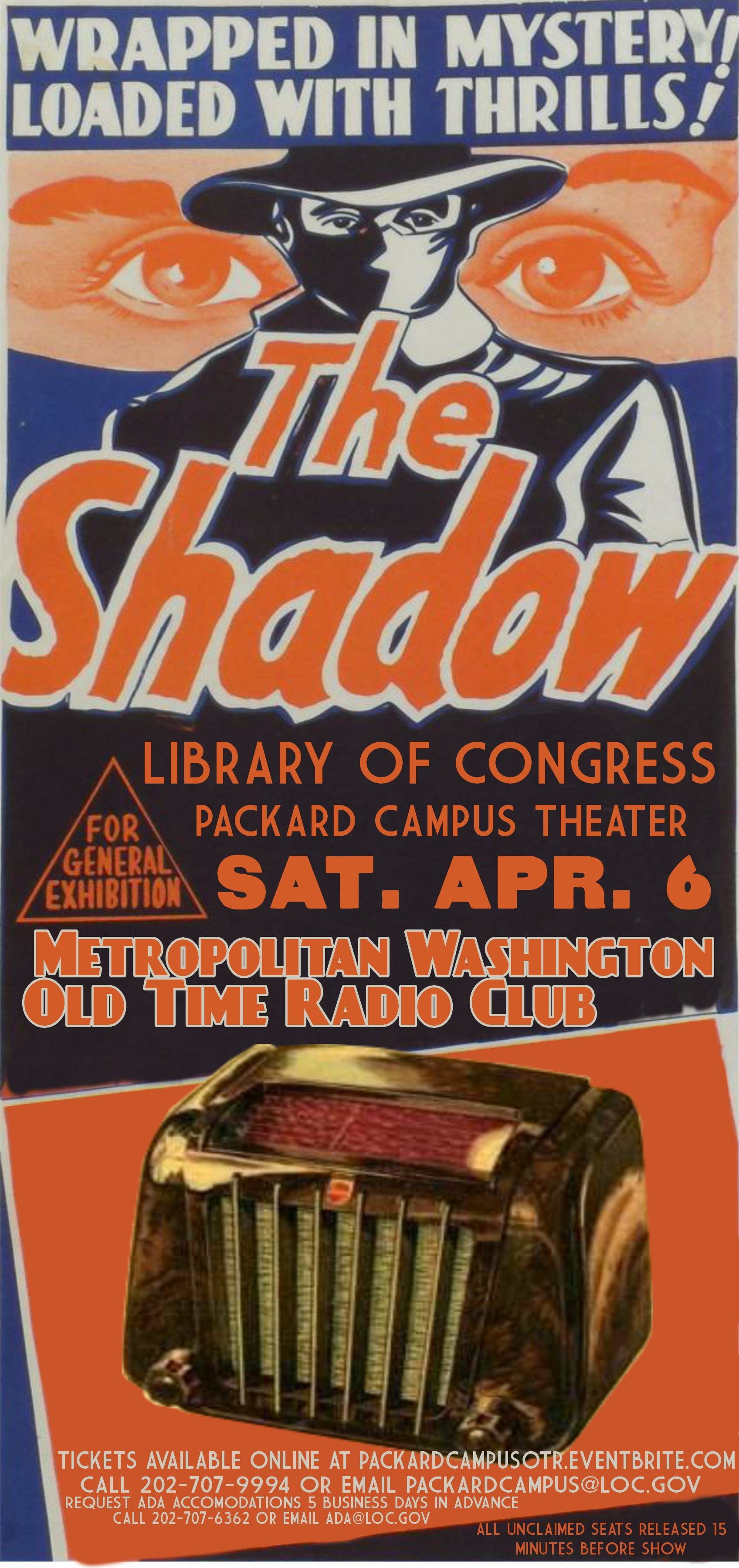 An Evening of Old Time Radio at the Packard Campus (April 6 ...