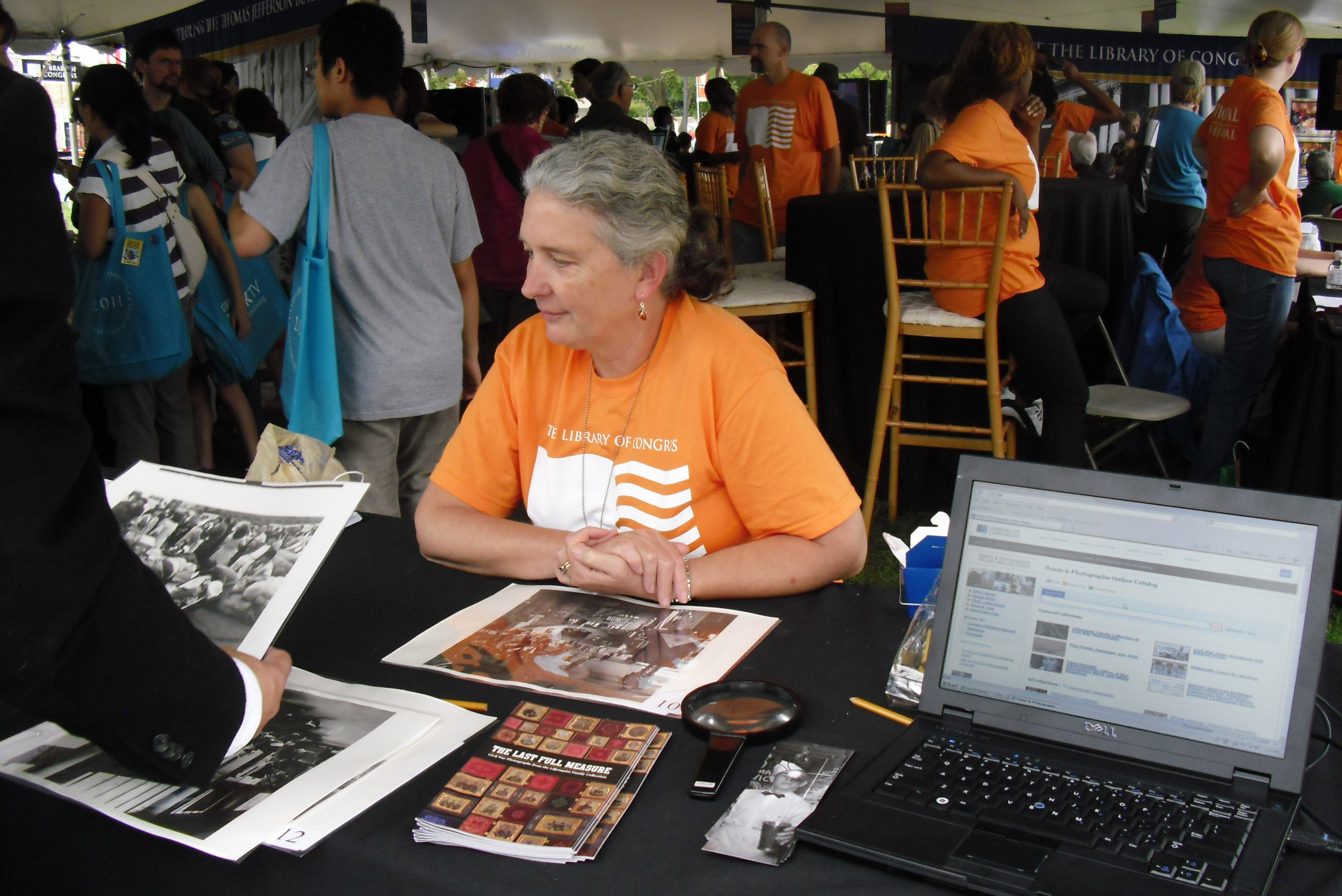 Prints & Photographs Division table at the National Book Festival, Sept. 25, 2011