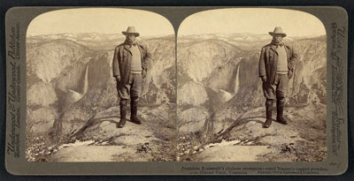 President Roosevelt's choicest recreation - amid nature's rugged grandeur on Glacier Point, Yosemite