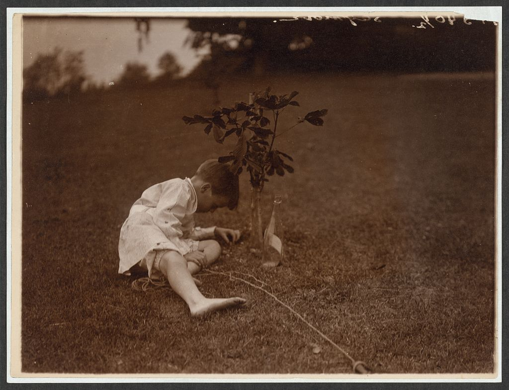 Quentin Roosevelt Planting a Tree