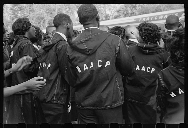 Students in NAACP jackets at the March on Washington for Jobs and Freedom. © The Estate of Roosevelt Carter