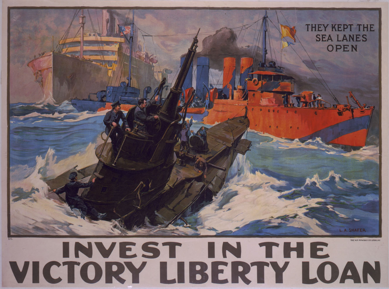 Invest in the Victory Liberty Loan. Poster by L. A. Shafer, 1919. //hdl.loc.gov/loc.pnp/cph.3g02004
