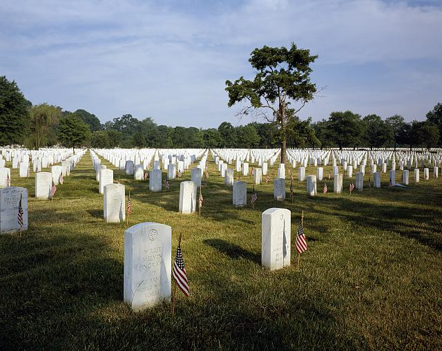 Memorial Day at Arlington National Cemetery in Virginia. Photo by Carol M. Highsmith, between 1980 and 2006. //hdl.loc.gov/loc.pnp/highsm.12645