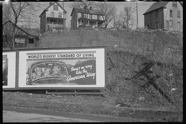 Road sign near Kingwood, West Virginia