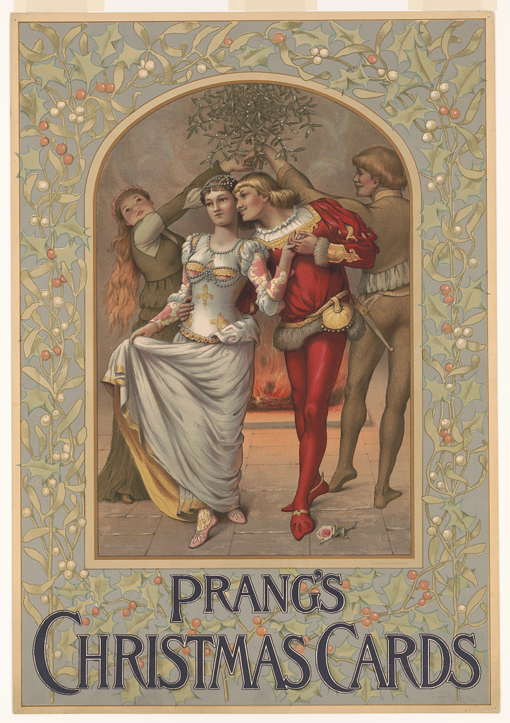 Prang's Christmas cards. Chromolithograph copyrighted by L. Prang & Co, 1886. //hdl.loc.gov/loc.pnp/pga.07908