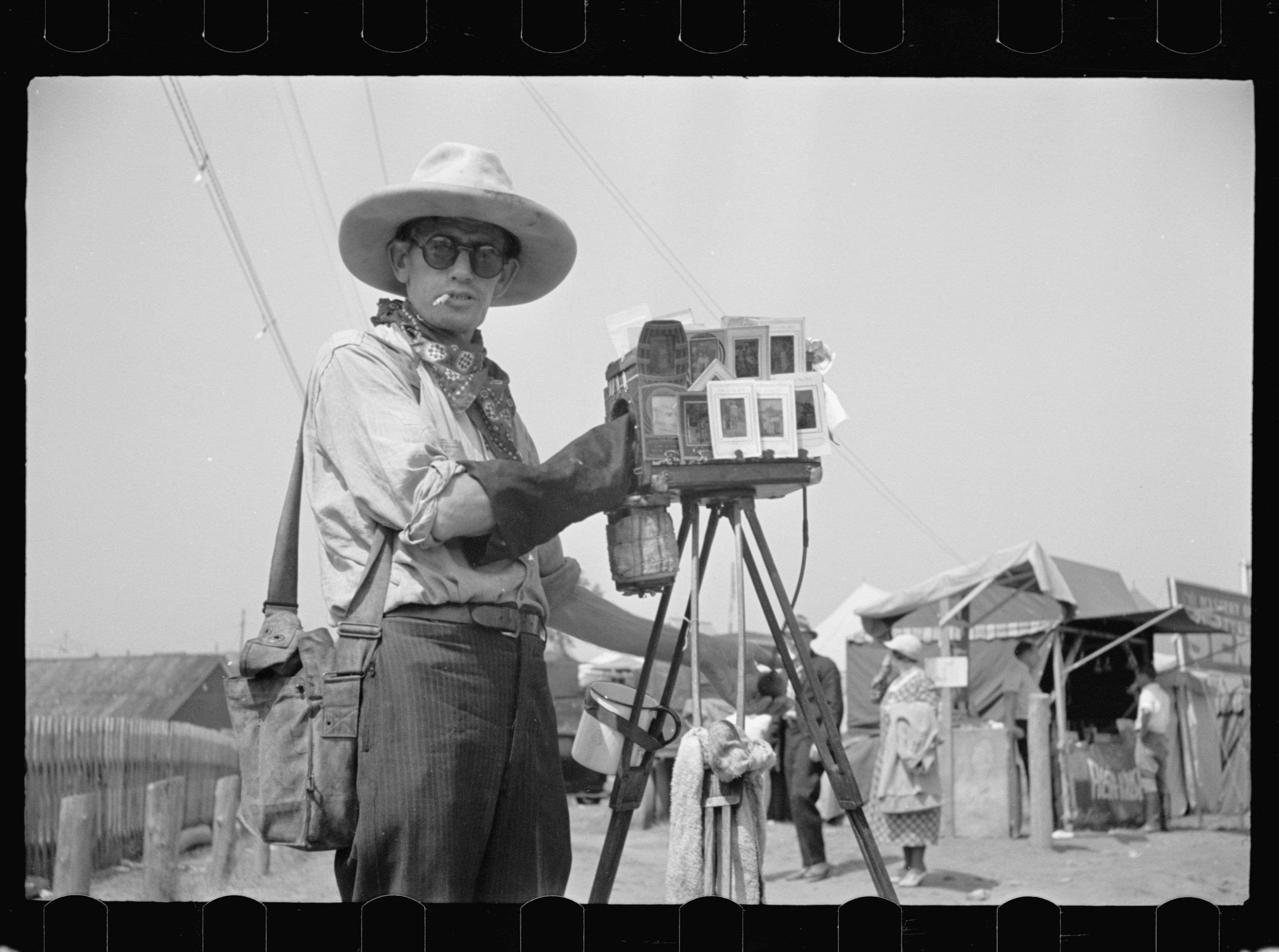 Tin-type photographer at Morrisville, Vermont fair. Photo by Carl Mydans, 1936 Aug. hdl.loc.gov/loc.pnp/fsa.8a02572