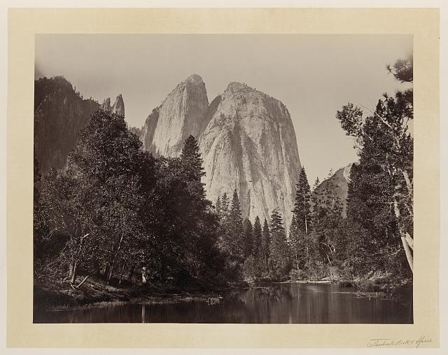 Cathedral Rock, Yosemite Valley, Calif. Photo by Carleton Watkins, ca. 1865. //hdl.loc.gov/loc.pnp/ppmsca.09996