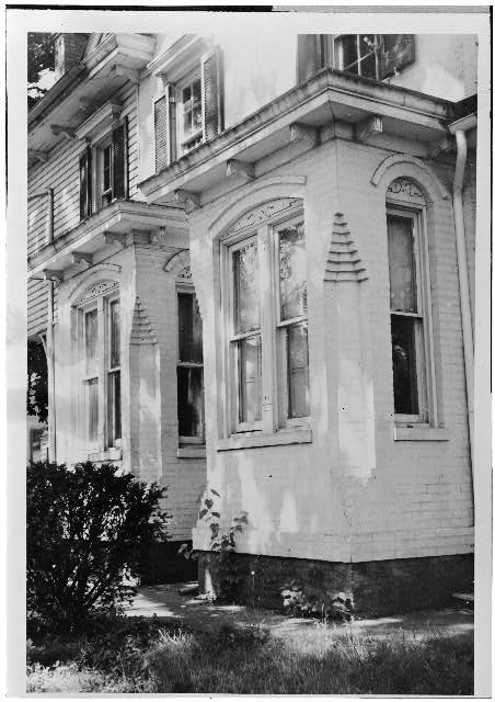 Detail of the Bays, East Side, Frederick Douglass House, Washington, D.C. Photo by Russell Jones for the Historic American Buildings Survey, 1963. //hdl.loc.gov/loc.pnp/hhh.dc0092/photos.026979p