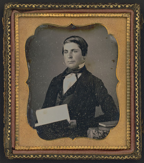 Photograph shows portrait of James C. Strout just before entering Bowdoin College; he would later become Assistant Librarian of the Library of Congress.
