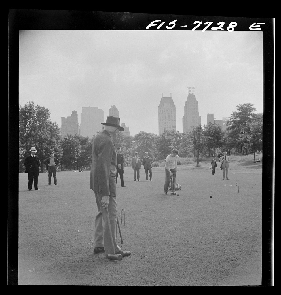 New York, New York. Sunday croquet game in Central Park. September 1942. hdl.loc.gov/loc.pnp/fsa.8d22157
