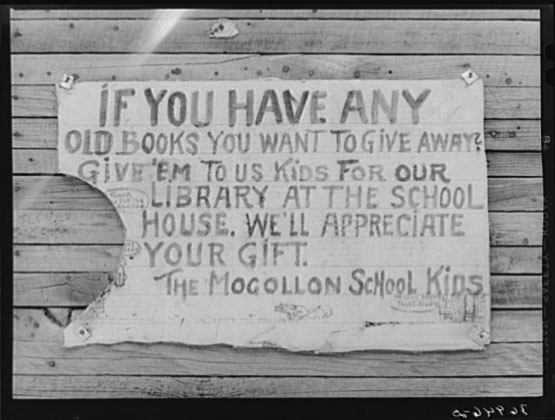 Sign on side of building. Mogollon, New Mexico.