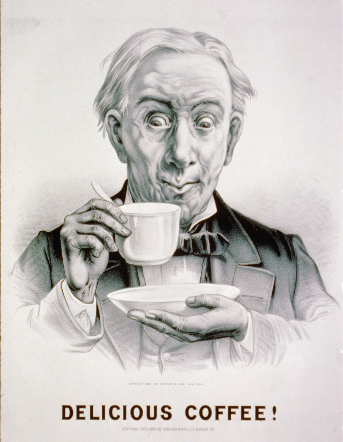 Delicious Coffee! Lithograph by Currier and Ives. 1881. //hdl.loc.gov/loc.pnp/cph.3b50391