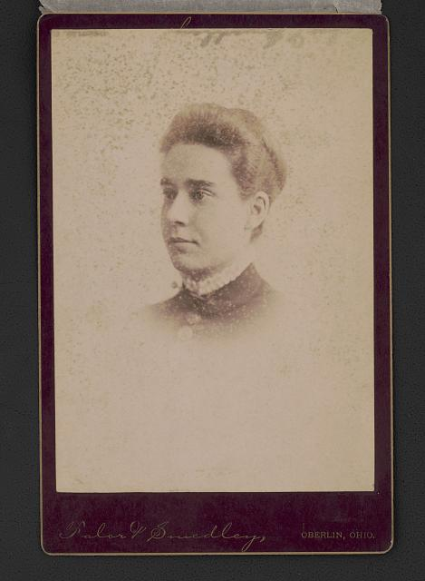 Bust portrait of unidentified woman. Photo by Falor & Smedley, between 1888 and 1889. //hdl.loc.gov/loc.pnp/ppmsca.50303