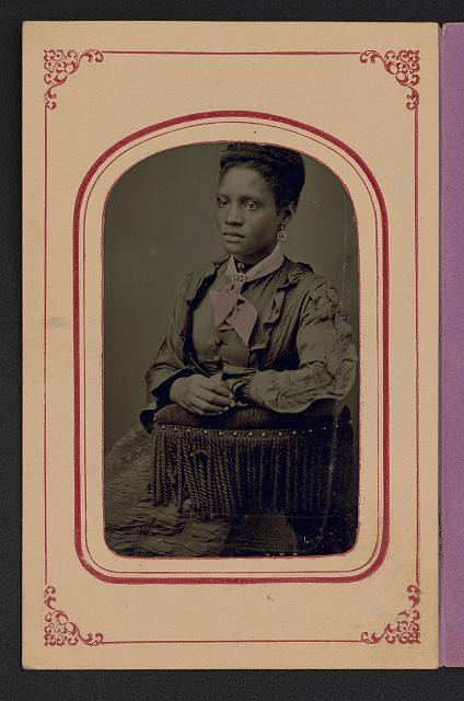 Laura A. Moore Westbrook (1859- ?), educator. Photo (tintype), ca. 1873. //hdl.loc.gov/loc.pnp/ppmsca.50311