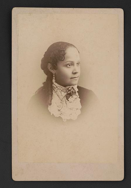 Fannie Barrier Williams, (1855-1944), educator and activist. Photo by Paul Tralles, ca. 1885. //hdl.loc.gov/loc.pnp/ppmsca.50312