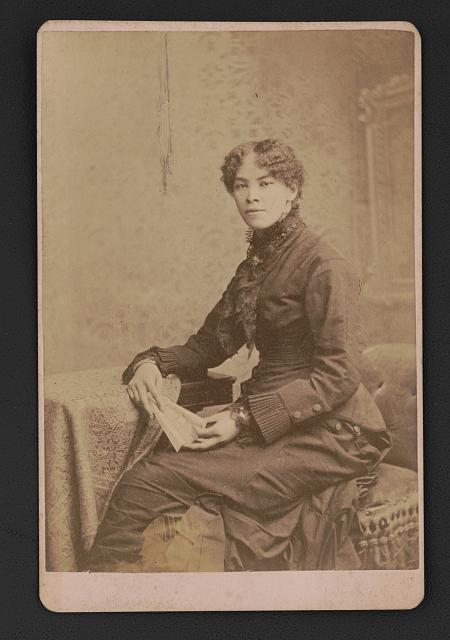 Josephine Silone Yates (1852-1912),educator and activist. Photo by The New Photographic Art Company, ca. 1885. //hdl.loc.gov/loc.pnp/ppmsca.50313