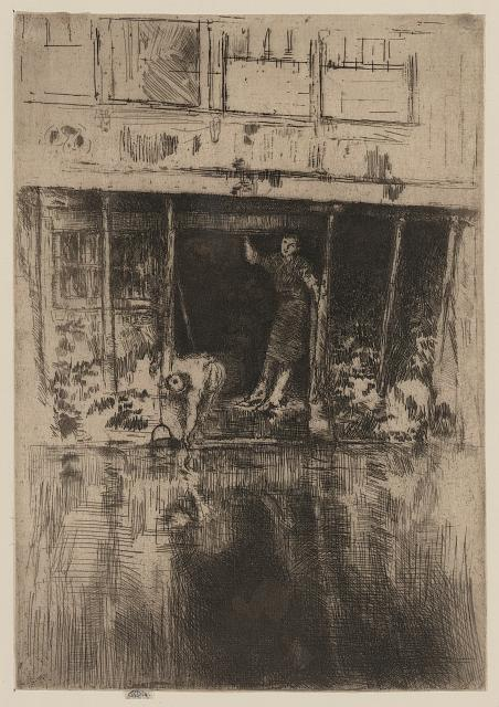 Pierrot. Etching by James McNeill Whistler, 1889. //hdl.loc.gov