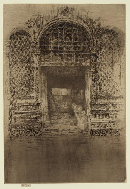 The Doorway. Etching by James McNeill Whistler, between 1879 and 1880. //hdl.loc.gov/loc.pnp/ppmsca.25264