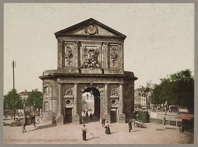 Rotterdam. La Porte de Delft. Photochrom by Photoglob Co., between 1890 and 1906. //hdl.loc.gov/loc.pnp/ppmsca.52698