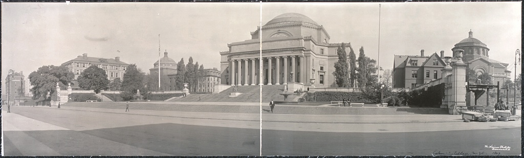 Columbia University, New York City. Photograph by Haines Photo Co., 1909. //hdl.loc.gov/loc.pnp/pan.6a11877