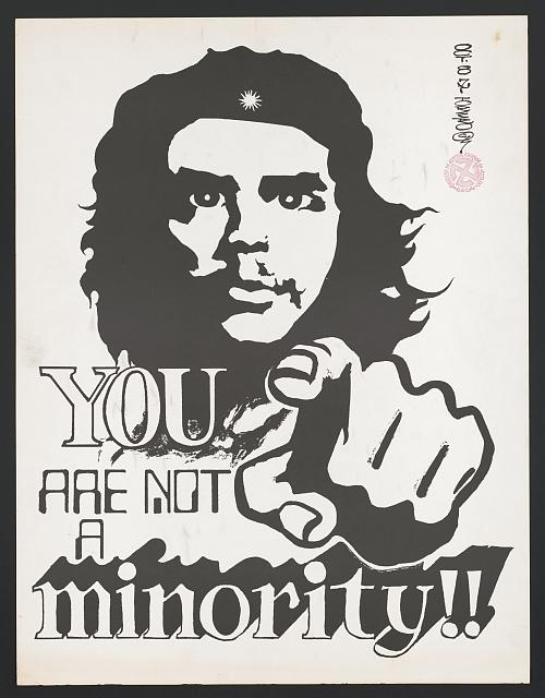 You are not a minority!! Print by Mario Torero, 1987. //hdl.loc.gov/loc.pnp/ppmsca.52134
