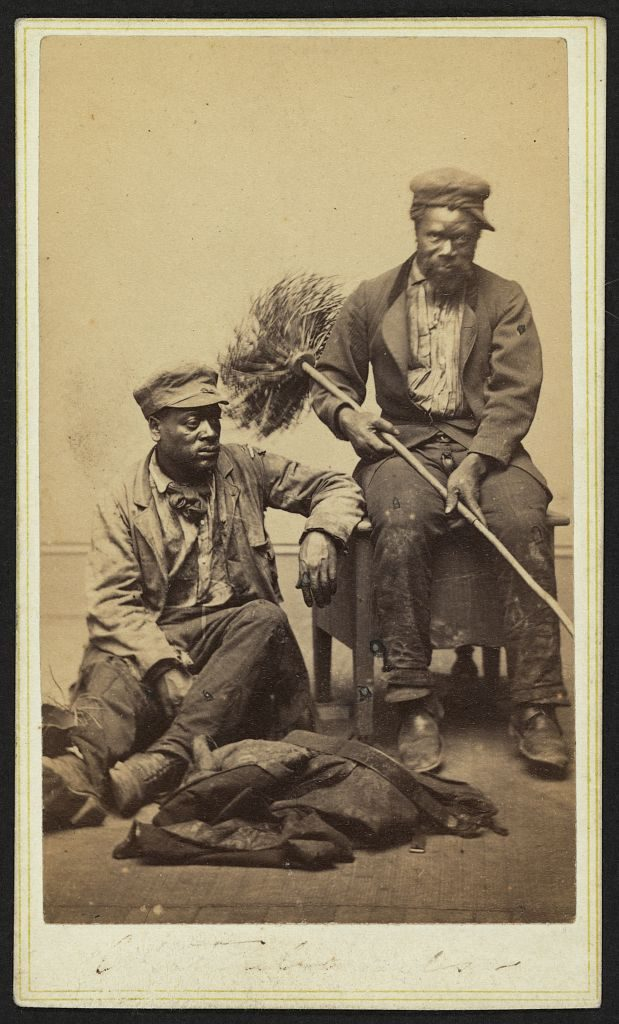 [Occupational portrait of two African American chimney sweeps] Photo by Charles D. Fredricks & Co., between 1860 and 1870. //hdl.loc.gov/loc.pnp/ppmsca.10990