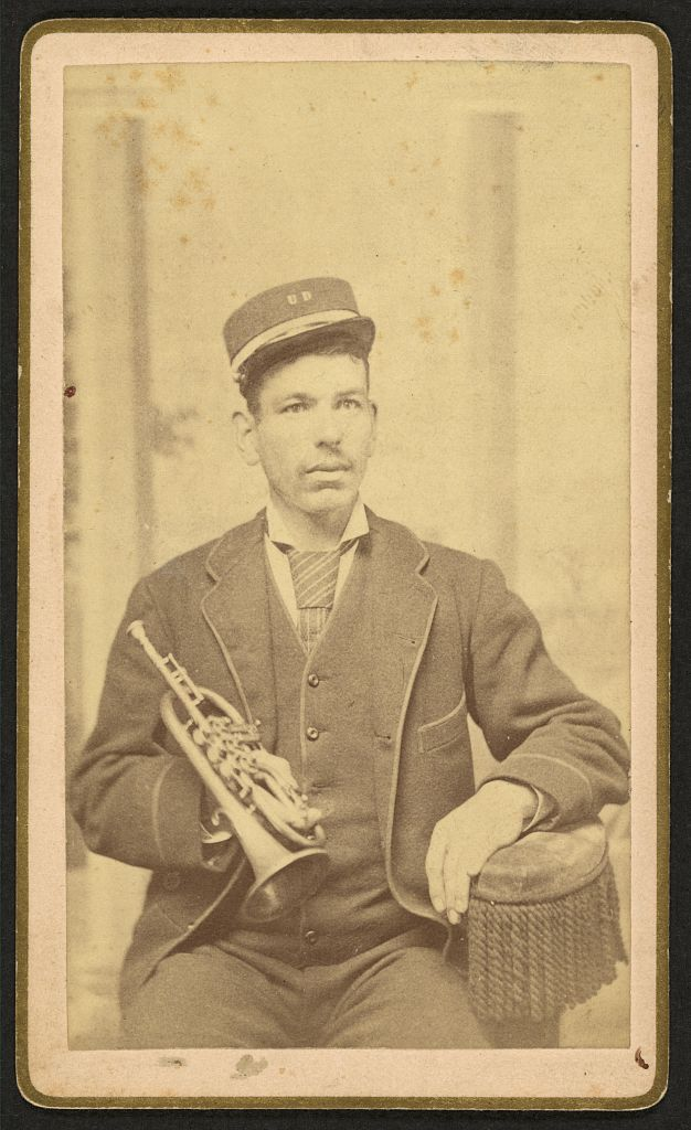 Newton Stevens, Son of Otis & Sarah Stevens. One time music teacher also classroom teacher. Photo by J. F. Holley, between 1870 and 1880. //hdl.loc.gov/loc.pnp/ppmsca.11054