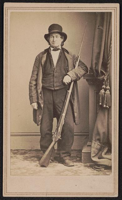 John L. Burns, veteran of the War of 1812, civilian who fought at the Battle of Gettysburg with Union troops.... Photo by Brady's National Portrait Gallery. between 1863 and 1872. //hdl.loc.gov/loc.pnp/ppmsca.52196