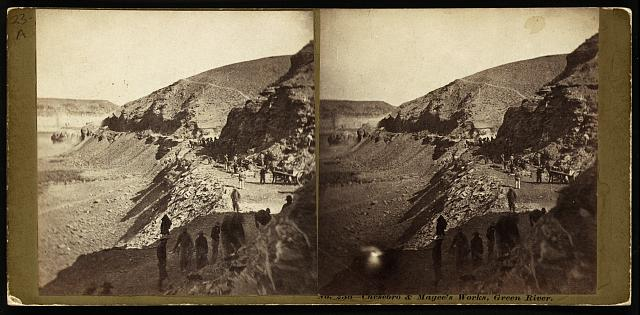 Chesebro & Magee's Works, Green River. Photo by Andrew J. Russell, between 1868 and 1870. //hdl.loc.gov/loc.pnp/stereo.1s00094
