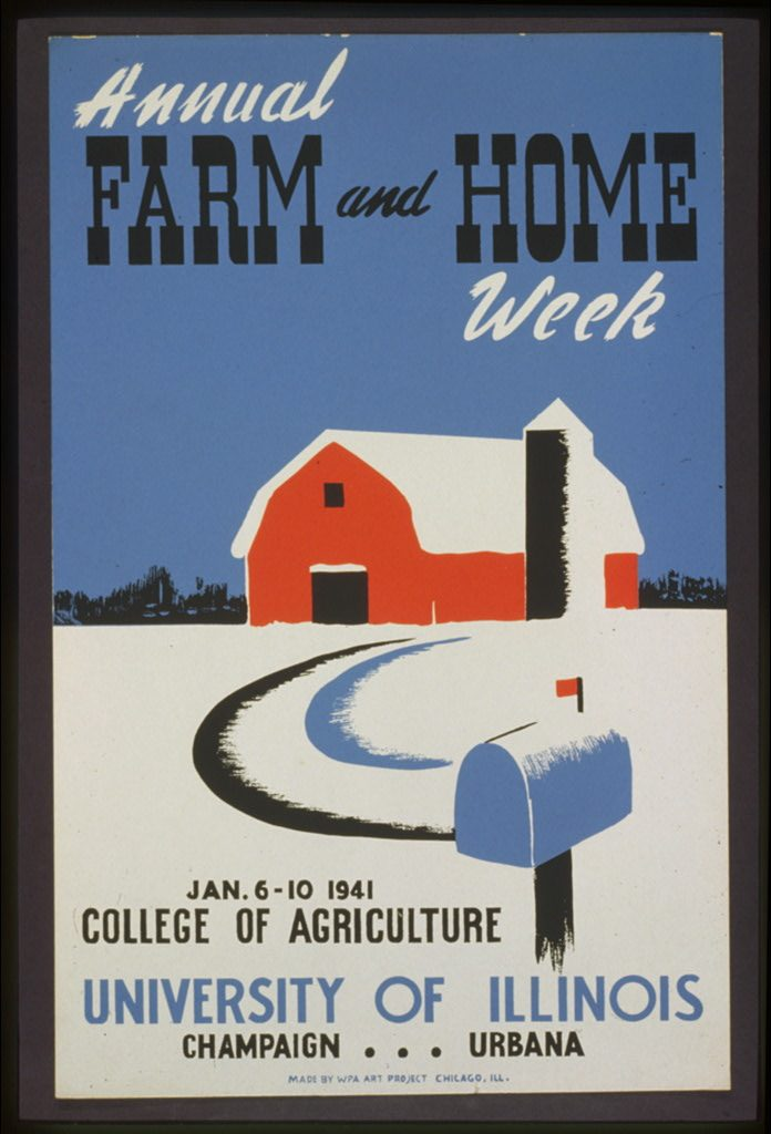 Annual farm and home week. Poster by Work Projects Administration Federal Art Project, 1941. //hdl.loc.gov/loc.pnp/cph.3f03742
