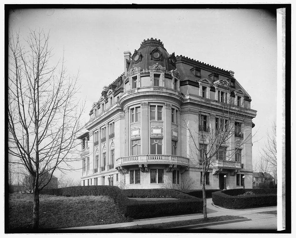 French Embassy, [2460] 16th St., [Washington, D.C.]. Photo, National Photo Company Collection, between 1910 and 1935. //hdl.loc.gov/loc.pnp/npcc.31254