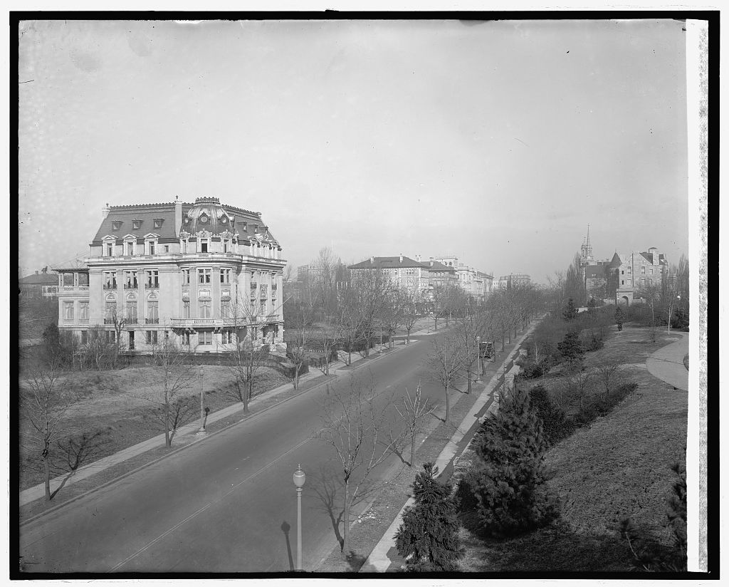 16th Street and French Embassy, [Washington, D.C.]. Photo, National Photo Company Collection, between 1910 and 1926. //hdl.loc.gov/loc.pnp/npcc.32383
