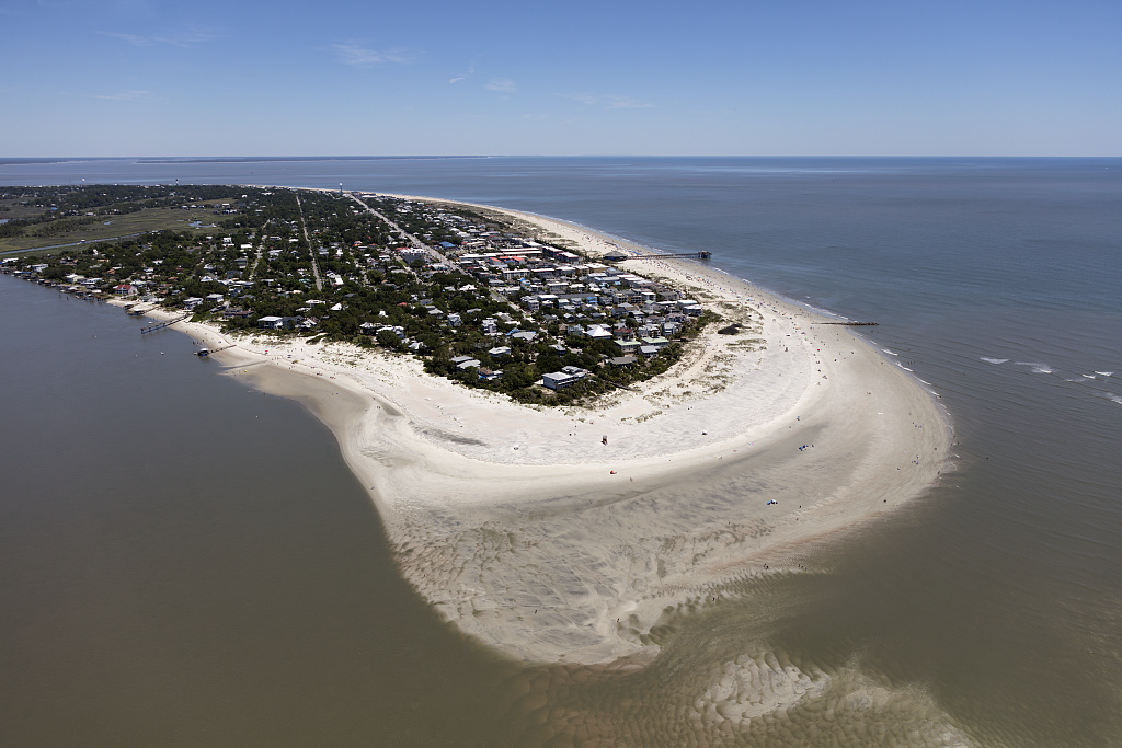 Aerial view of Tybee Island, Georgia. Tybee is a barrier island in Chatham County, near Savannah. It is the easternmost point in Georgia. Photo by Carol M. Highsmith, 2017 May 26. //hdl.loc.gov/loc.pnp/highsm.43593
