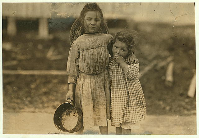 Maud Daly, five years old. Grade Daly, three years old. ... Bay St. Louis, Mississippi. Photo by Lewis Hine, 1911 March. National Child Labor Committee Collection. //hdl.loc.gov/loc.pnp/nclc.00907