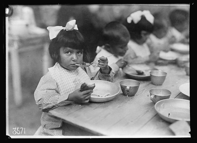 One of the most important occupations in life at La Jonchere. This is one of the colonies established by the Comite Franco-Americain pour la Protection des Enfants de la Frontiere... Photo by Lewis Hine, 1918 27 August. American National Red Cross Collection. //hdl.loc.gov/loc.pnp/anrc.09027