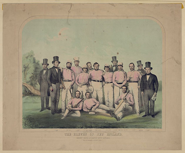The eleven of New England. Print published by Bufford, copyrighted 1851, //hdl.loc.gov/loc.pnp/pga.00371