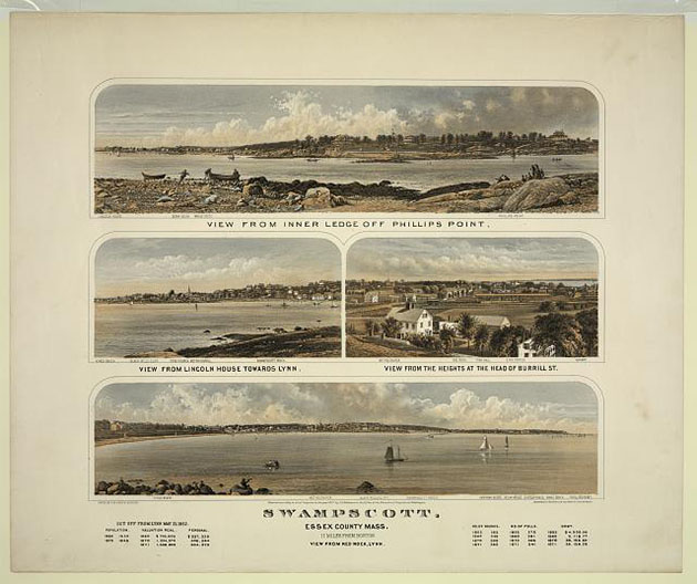 Swampscott - Essex County, Mass.- 11 miles from Boston. Print published by Bufford, copyrighted 1871. //hdl.loc.gov/loc.pnp/pga.03575