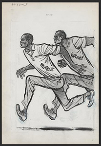 Herb Block. <em>Race</em>, 1968. Drawing published in the Washington Post, May, 28, 1968. © Herb Block Foundation. http://hdl.loc.gov/loc.pnp/ppmsca.19989