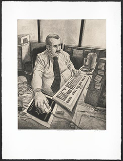 Sandow Birk. <em>Malignant Neoplasms (Cancer)</em>, 2005 print. (Ten Leading Causes of Death in America series). Print. © Sandow Birk, Courtesy of the Artist and Koplin Del Rio Gallery, used by permission. http://hdl.loc.gov/loc.pnp/ppmsca.55796