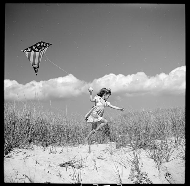"Toni Frissell's daughter Sidney as ""The Wind"" in A Child's Garden of Verses, Southhampton, Long Island. Photo by Toni Frissell, 1944. //hdl.loc.gov/loc.pnp/ds.07091"