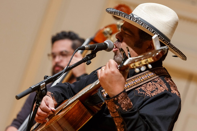 Los Cenzontles performs Mexican American music during the Homegrown Concert Series in the Coolidge Auditorium, June 25, 2019. Photo: Shawn Miller