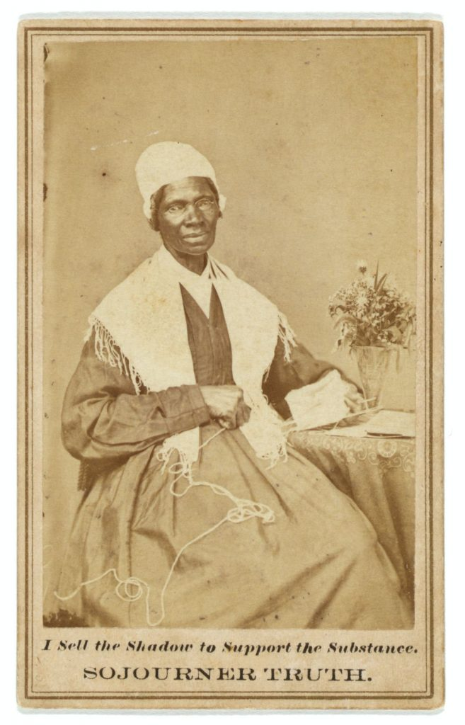 <em>Sojourner Truth </em>. Photo from Gladstone Collection, 1864. http://hdl.loc.gov/loc.pnp/ppmsca.08978